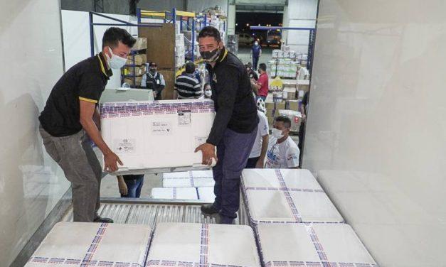 Pará recebe mais 164 mil doses de vacinas contra a Covid-19