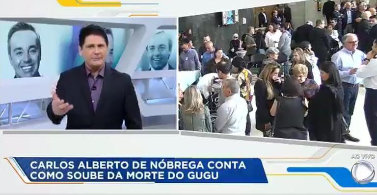 """Carlos Alberto de Nóbrega chora em programa de TV ao falar de perda tripla: """"Eu sou velho"""""""