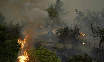 Incêndios destroem 1.200 hectares de mata e esvaziam 5 cidades perto de Atenas