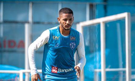 De fora dos últimos dois jogos do Paysandu, atacante está liberado para o duelo contra a Jacuipense