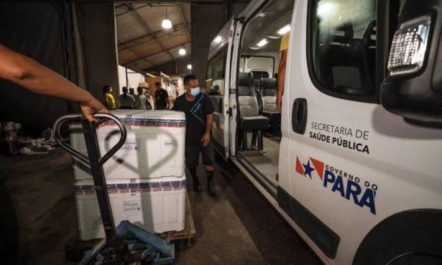 Pará recebe mais doses da vacina AstraZeneca