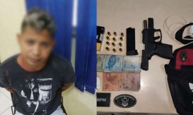 Abaetetuba: PM prende homem por tráfico e porte ilegal de arma