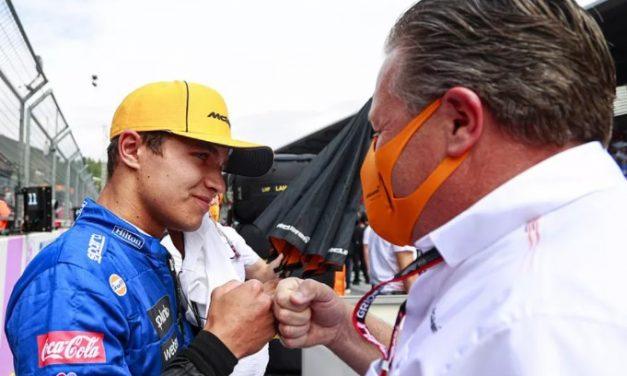 F1: Norris diz que comandantes da McLaren são importantes em seu desenvolvimento