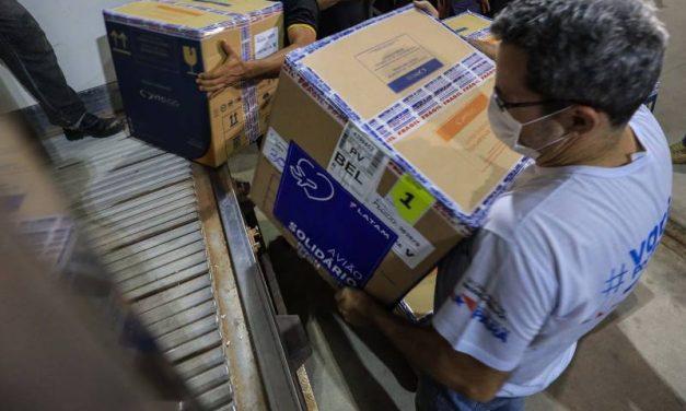 Chegaram ao Pará, na madrugada deste sábado, mais de 218 mil doses de vacinas da Pfizer