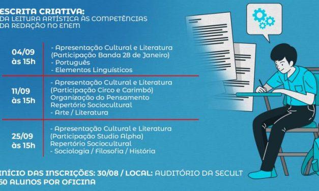 Prefeitura através da SECULT promovem oficina de redação para candidatos do Enem