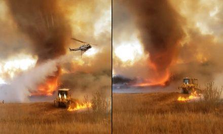 Tornado de fogo é registrado em incêndio florestal na Califórnia