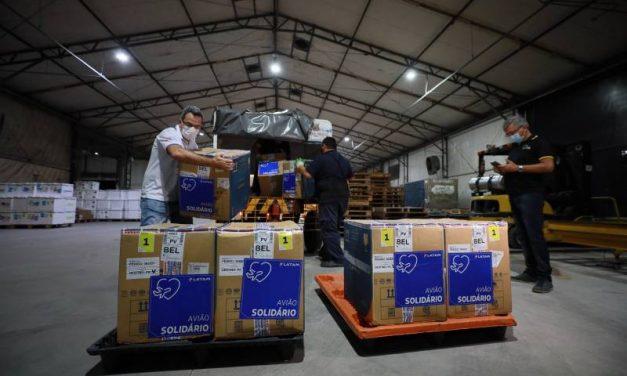Pará recebe mais 44 mil doses de vacinas contra a Covid-19, na madrugada desta quinta-feira (02)