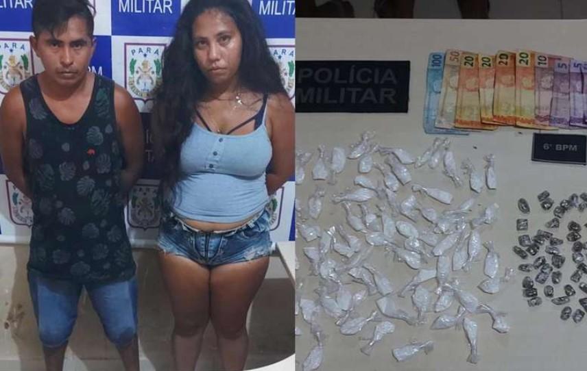 Casal dono de 'lojinha do tráfico' é preso em Ananindeua