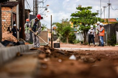 Obras do Programa 'Asfalto por Todo o Pará' avançam no bairro da Cabanagem