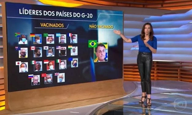 Telejornal consegue sintetizar isolamento de Bolsonaro com uma imagem