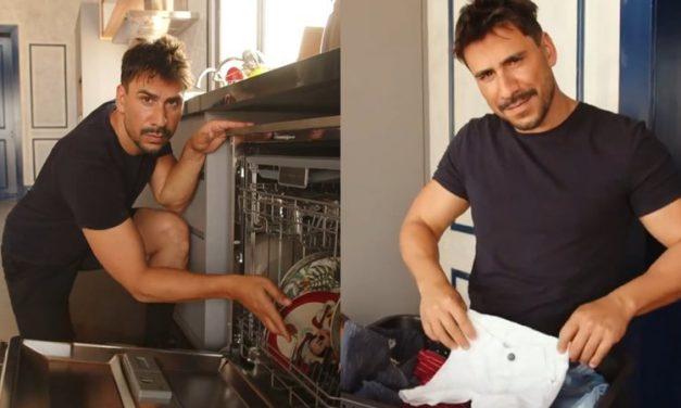 """Julio Rocha conta que divide com a esposa os cuidados com os filhos e afazeres domésticos: """"Serviço de casa é de todos"""""""