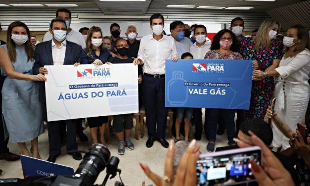 Governo do Pará lança programas Vale Gás e Água Pará. Benefícios vão chegar a mais de 340 mil famílias.