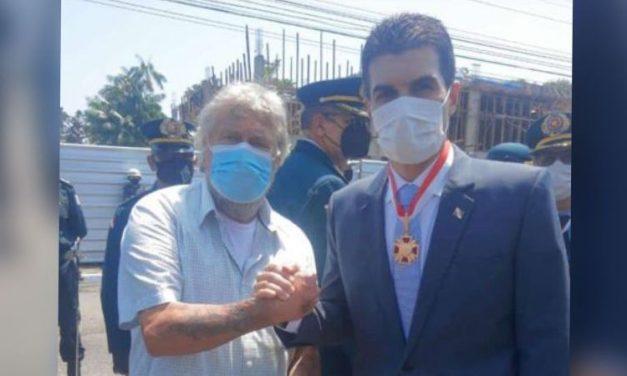 """""""Macarrão"""", prefeito de Tailândia, participa de solenidade em comemoração aos 203 anos da Polícia Militar"""