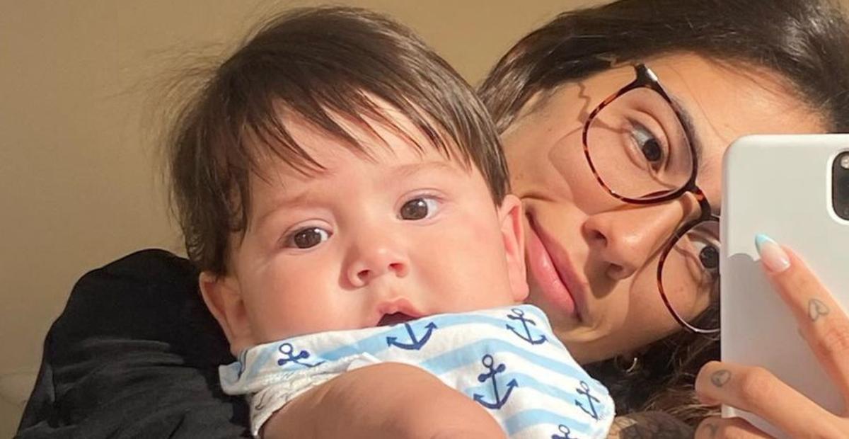 """Gabi Brandt mostra o novo visual do filho caçula e se derrete: """"Surtem comigo"""""""