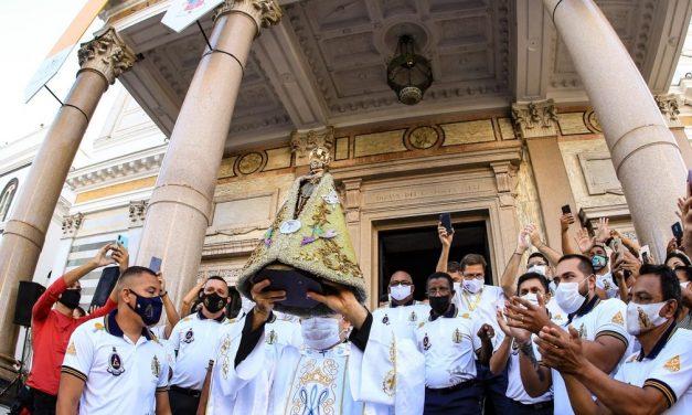 Círio 2021: Imagem de Nossa Senhora de Nazaré faz percurso de 60 km em traslado rodoviário na região metropolitana de Belém