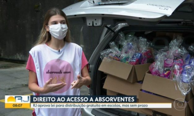 Adolescente cria ONG para conseguir doações de absorventes para meninas em situação de vulnerabilidade