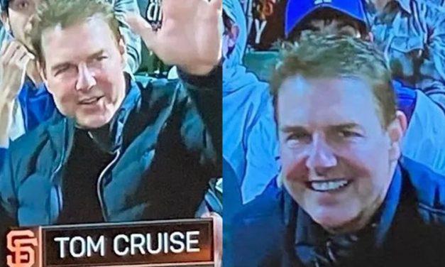 Tom Cruise choca fãs ao aparecer com rosto inchado durante jogo de beisebol