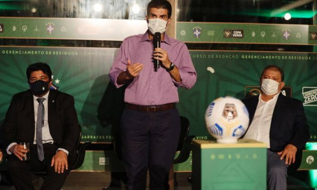 No lançamento da Copa Verde, governador destaca investimento público no futebol do Pará