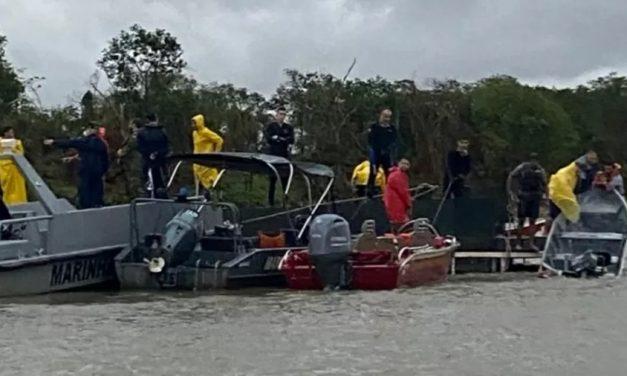 Sobe para 6 os mortos em naufrágio após tempestade em Mato Grosso do Sul