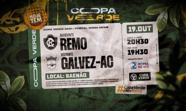 Confronto entre Remo e Galvez abre as oitavas de final da Copa Verde